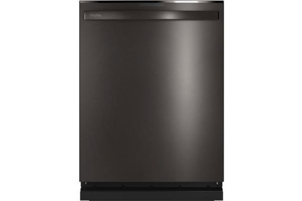 """Large image of GE Profile 24"""" Black Stainless Top Control Dishwasher With Sanitize Cycle & Dry Boost With Fan Assist - PDT715SBNTS"""