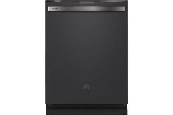 """GE Profile 24"""" Black Slate Built-In Dishwasher - PDT715SFNDS"""