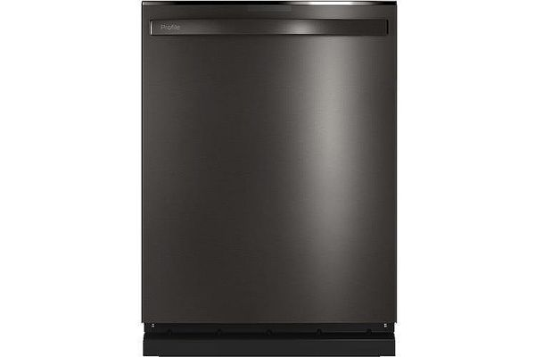"""Large image of GE Profile 24"""" Black Stainless Top Control Dishwasher With Sanitize Cycle & Twin Turbo Dry Boost - PDT785SBNTS"""