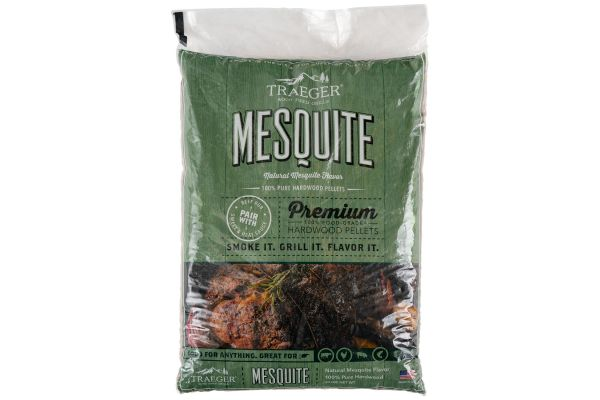 Large image of Traeger 20Lb Mesquite BBQ Hardwood Pellets - PEL305