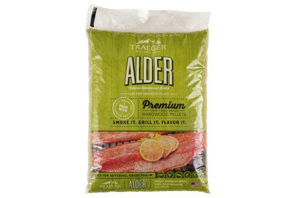 Large image of Traeger 20Lb Alder BBQ Hardwood Pellets - PEL307