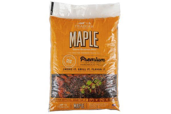 Large image of Traeger 20Lb Maple BBQ Hardwood Pellets - PEL308