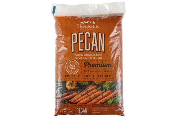Large image of Traeger 20Lb Pecan BBQ Hardwood Pellets - PEL314