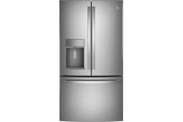 Large image of GE Profile 27.7 Cu. Ft. Fingerprint Resistant Stainless Steel French-Door Refrigerator With Door In Door And Hands-Free AutoFill - PFD28KYNFS