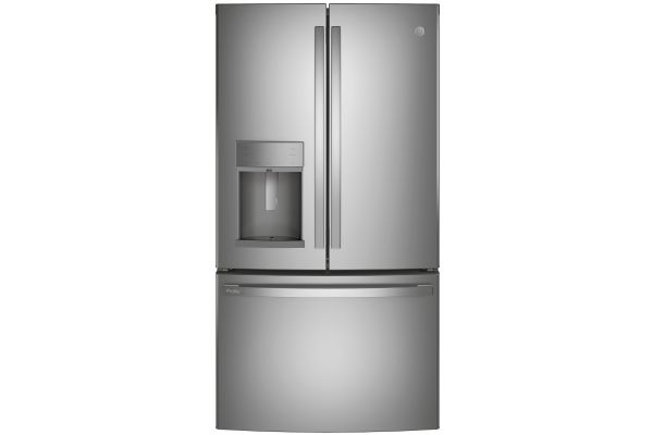 Large image of GE Profile ENERGY STAR 27.7 Cu. Ft. Fingerprint Resistant Stainless Steel French-Door Refrigerator With Hands-Free AutoFill - PFE28KYNFS