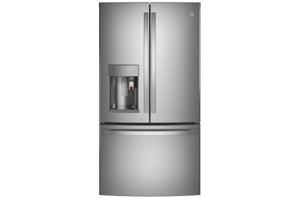 Large image of GE Profile ENERGY STAR 27.7 Cu. Ft. Fingerprint Resistant Stainless Steel Smart French-Door Refrigerator With Keurig K-Cup Brewing System - PFE28PYNFS