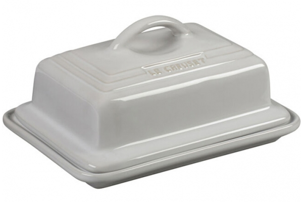 Large image of Le Creuset White Butter Dish - PG0307T-1716