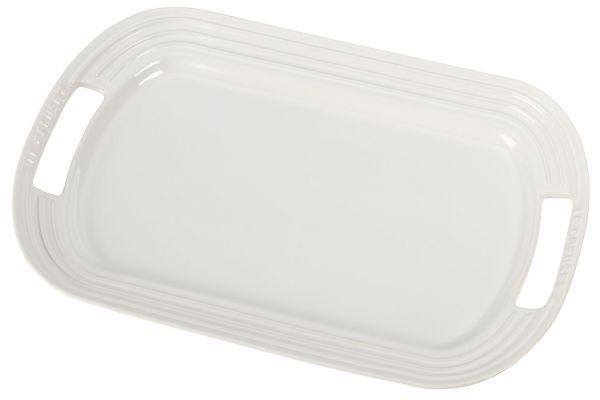 Large image of Le Creuset White Large Serving Platter - PG0309-4116