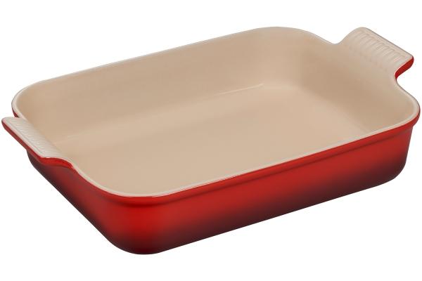 Large image of Le Creuset Heritage 4 Qt. Cerise Rectangular Dish - PG07003AT-3267