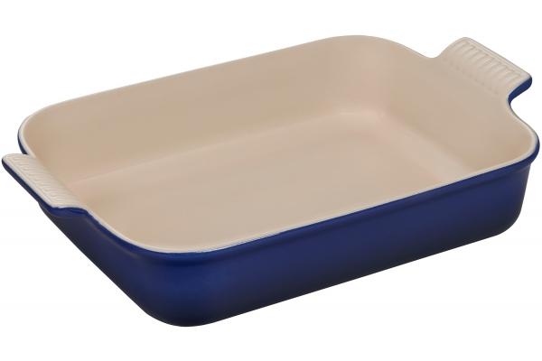 Large image of Le Creuset Heritage 4 Qt. Indigo Rectangular Dish - PG07003AT-3278