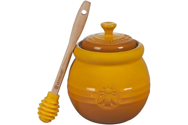 Large image of Le Creuset Nectar Honey Pot With Silicone Dipper - PG1015-10672