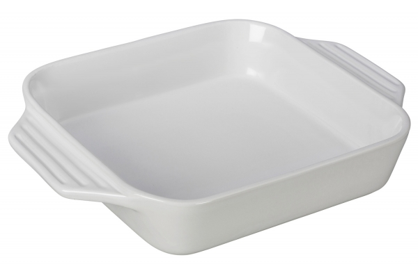 Large image of Le Creuset Heritage 2.2 Qt. White Square Dish - PG1057S-2416