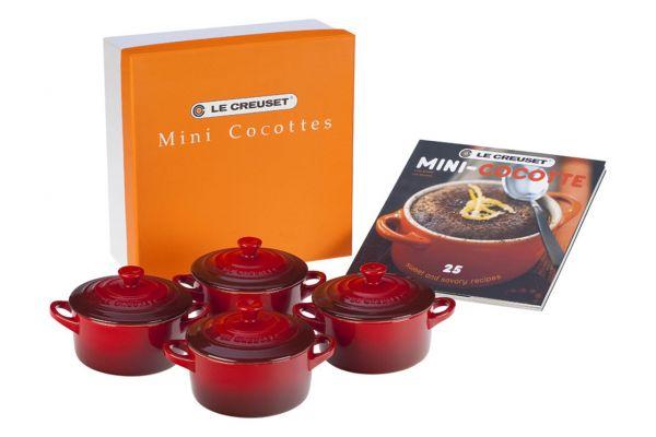 Large image of Le Creuset Mini Cocotte Set With Cookbook - PG1164CB-0867