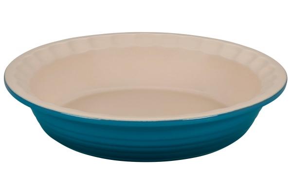 Large image of Le Creuset Heritage 1.5 Qt. Deep Teal Pie Dish - PG1855-237D