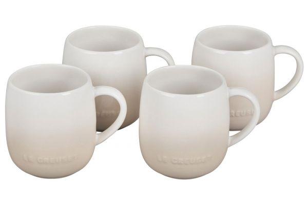 Large image of Le Creuset 13oz. Set Of 4 Meringue Heritage Stoneware Mugs - PG70433A-13716