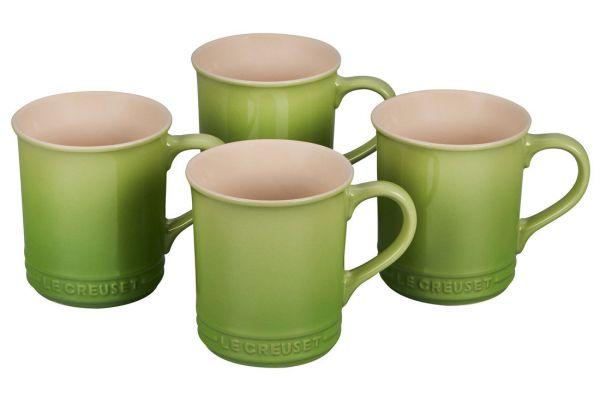 Large image of Le Creuset 14oz. Set Of 4 Palm Stoneware Mugs - PG90433A-004P