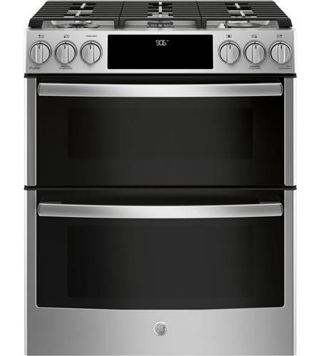 Ge Profile 30 Stainless Steel Slide In Double Oven Gas Range Pgs960selss