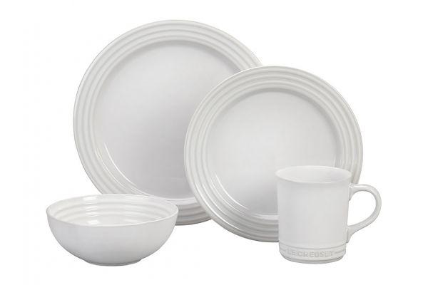 Large image of Le Creuset 16-Piece White Dinnerware Set - PGWSV16T-0316