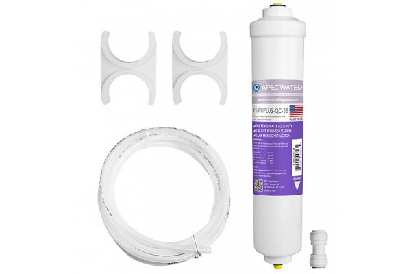 """Large image of APEC Water Calcite Acidic Water Neutralizer 10"""" Filter Kit With 3/8"""" Quick Connect - PHPLUSKIT-38"""
