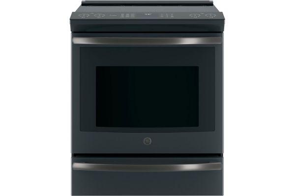 """GE Profile 30"""" Black Slate Slide-In Induction Range - PHS930FLDS"""