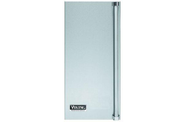 Large image of Viking Stainless Steel Left Hinge Professional Ice Machine Door Panel - PIDP515LSS