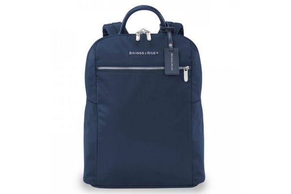 Large image of Briggs & Riley Navy Rhapsody Slim Backpack - PK121-5