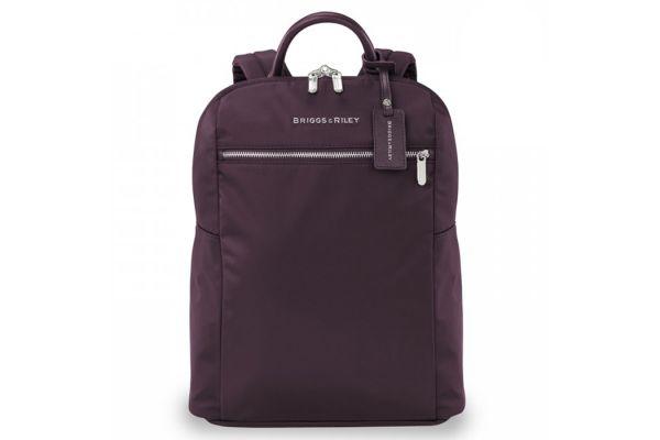 Large image of Briggs & Riley Plum Rhapsody Slim Backpack - PK121-64