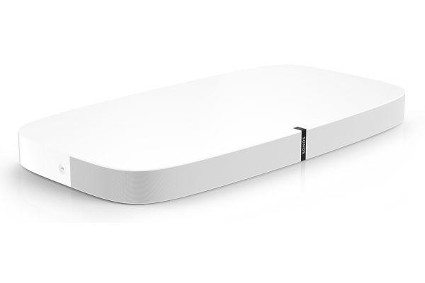 Large image of SONOS White PLAYBASE Soundbase Soundbar Speaker - PLAYBASEUSWH