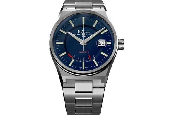 Large image of Ball Roadmaster Icebreaker Blue Dial Stainless Steel Mens Watch - PM3030CSCBE