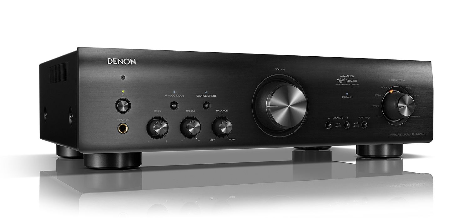 Denon Black Integrated Amplifier with 85W Power/Channel