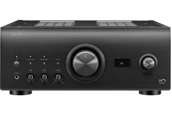 Large image of Denon 110-Year Anniversary Edition Silver Graphite Integrated Amplifier - PMA-A110