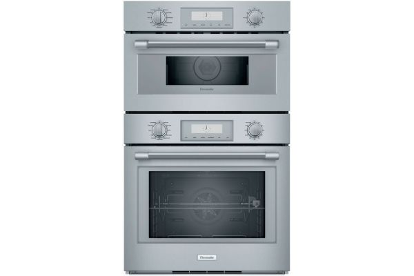 """Large image of Thermador 30"""" Professional Series Stainless Steel Combination Wall Oven - PODMC301W"""