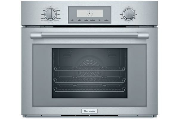 """Large image of Thermador Stainless Steel 30"""" Professional Series Single Steam Convection Built-In Oven - PODS301W"""