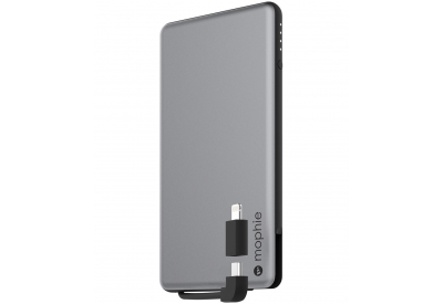 mophie - 3460_PSPLUS-4K-2N1-SGRY-BLK - Portable Phone Chargers