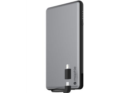 mophie - 3461_PSPLUS-6K-2N1-SGRY-BLK - Portable Chargers/Power Banks