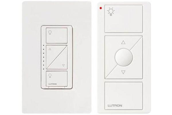Lutron Caseta White 600-Watt In-Wall Dimmer With Remote - P-PKG1W-WH