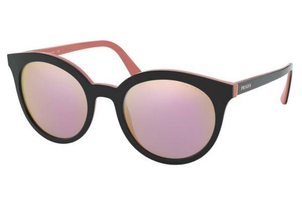 Large image of Prada Round Top Black Pink Womens Sunglasses - PR 02XS54172653