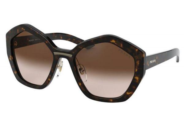 Large image of Prada Irregular Havana Womens Sunglasses - PR 08XS2AU6S155