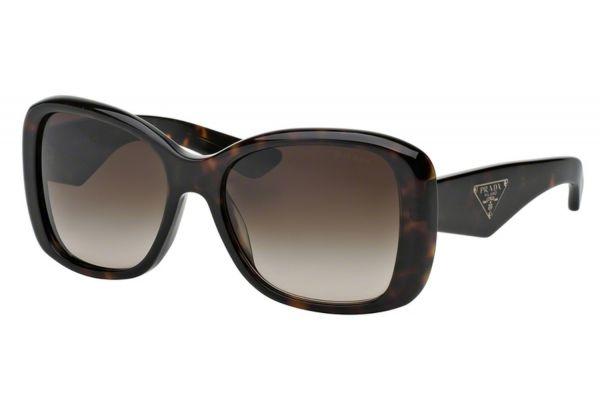 Large image of Prada Heritage Square Havana Womens Sunglasses - PR32PS2AU6S157