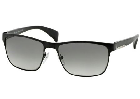 Prada Black Rectangle Mens Sunglasses - PR 51OS FAD/3M1 58