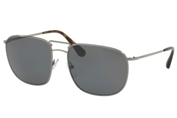 Prada Square Gunmetal Mens Sunglasses - PR52TS5AV5Z160
