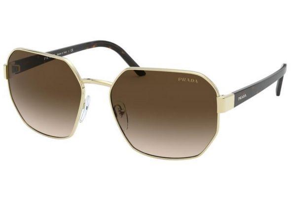 Large image of Prada Millennials Pale Gold Womens Sunglasses - PR 54XSZVN6S159