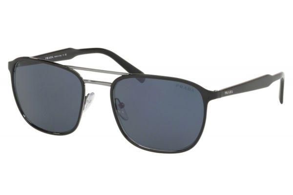 Large image of Prada Square Top Black On Gunmetal Mens Sunglasses - PR 75VSYDC0A956