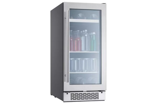 "Large image of Zephyr 15"" Stainless Frame Single Zone Beverage Cooler - PRB15C01BG"