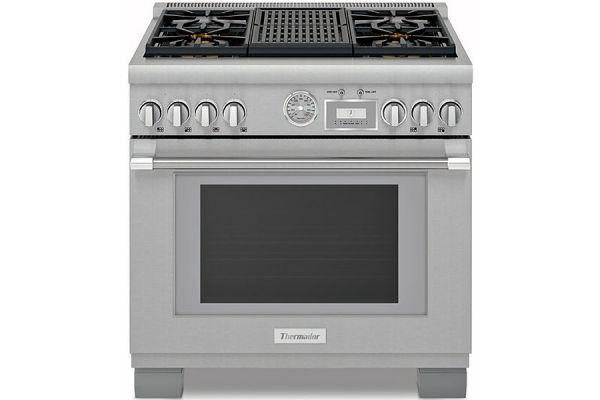 """Thermador 36"""" Pro Grand Stainless Steel Dual Fuel Range - PRD364WLGU"""