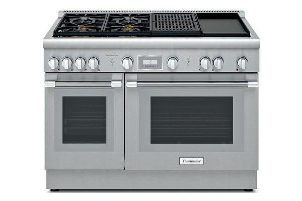 "Large image of Thermador 48"" Professional Series Pro Grand Stainless Steel Dual-Fuel Range - PRD484WCHU"
