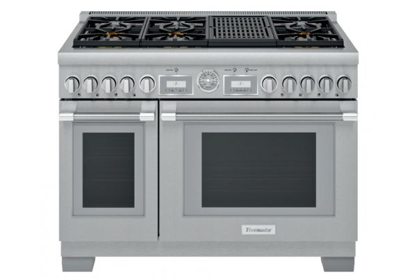 """Large image of Thermador 48"""" Professional Series Pro Grand Commercial Depth Dual Fuel Range - PRD486WLGU"""