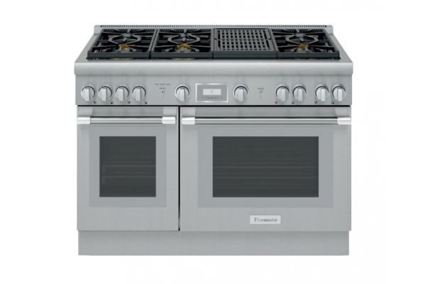 """Large image of Thermador 48"""" Professional Series Pro Harmony Standard Depth Dual Fuel Range - PRD486WLHU"""