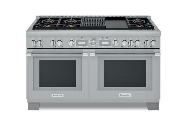 """Large image of Thermador 60"""" Professional Series Pro Grand Stainless Steel Dual-Fuel Range - PRD606WCG"""