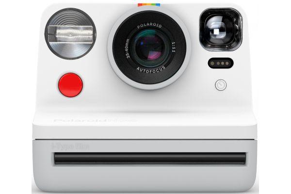 Large image of Polaroid Now White i-Type Instant Film Camera - PRD9027